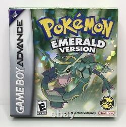 Game Boy Advance Pokemon Emerald Complete in Box Authentic/Tested/New Battery