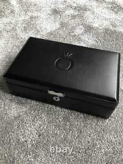 Large Authentic Pandora Black Leather/Suede Interior Jewellery Box New With Key