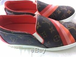 Louis Vuitton Monogram Slip-on Sneakers, AUTHENTIC, Like New with box & 2 bags