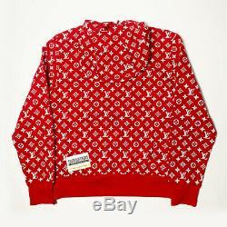 Louis Vuitton Supreme Box Logo Hoodie 100% Authentic Monogram M Medium LV 1a3fbu