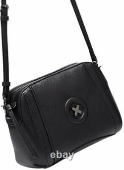 MIMCO Black Bag Fantasy Leather Cross Body Hip Clutch BNWT Authentic RRP$199 NEW