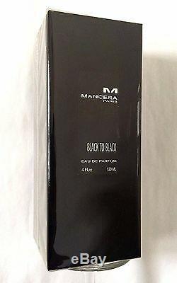 Mancera BLACK TO BLACK 120 ML, 4 fl. Oz unisex, EDP, 100% authentic new sealed box