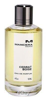 Mancera CEDRAT BOISE 120 ML, 4 fl. Oz Unisex, EDP, 100 % authentic new sealed box