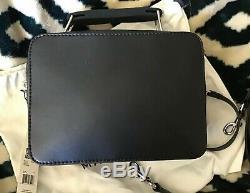 Marc Jacobs The Mini Box Bag Black Crossbody Bag NWT Authentic