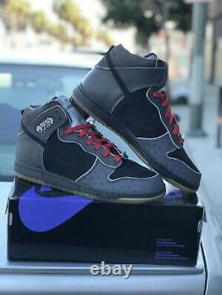 Mf Doom Nike Sb Dunk Hi Deadstock Purple Box 100% Authentic Sz 12