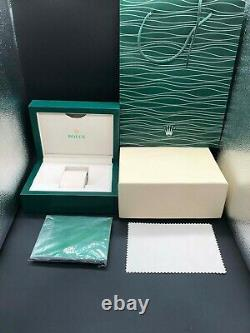 NEW GENUINE ROLEX Datejust Watch Box Green Wood Case Submariner Oyster Authentic