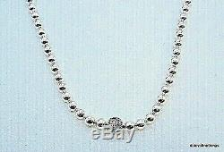 NEWithTAGS AUTHENTIC PANDORA BEADS AND PAVE NECKLACE #398565C01-45 HINGED BOX