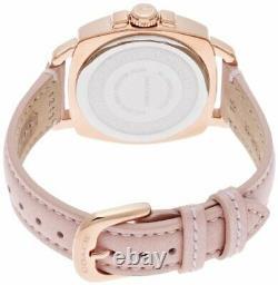 New Authentic Coach Women Rose Gold Boyfriend Swarovski Glitz Watch 14503151