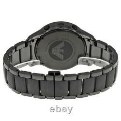 New Authentic Emporio Armani Ar1452 Black Dial Ceramic Mens Watch Rrp 499£