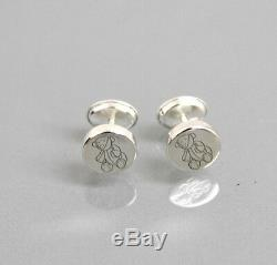 New Authentic Gucci Sterling Silver Teddy Bear Stud Earrings withBox