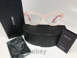 New Authentic PRADA VPR 29R-F UEW-1O1 OPAL PINK Eyeglasses 54mm BOX SET
