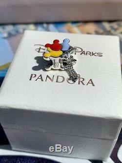 New Authentic Pandora Disney Parks 2020 Mickey Balloons Charm WithBox! #798883C01