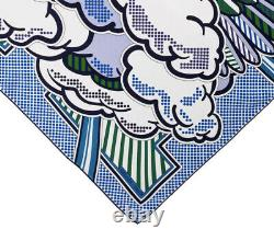 New In box Authentic Hermes Pegase Pop scarf 70cm 28 Blue Silk