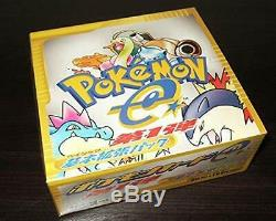 New Pokemon e-Card Base Set Booster Box 1st Edition Authentic From Japan Sealed