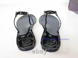 New in Box Tory Burch Mini Miller Jelly Thong Sandals Black US 9 AUTHENTIC