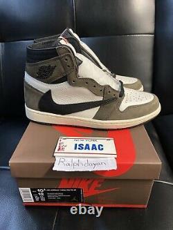 Nike Air Jordan 1 Travis Scott High Size 10.5 Brand New In Box 100% Authentic