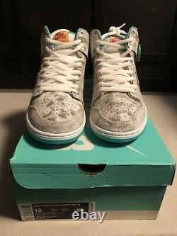 Nike Sb Dunk High Flamingo 313171-117 Size 13 NEW IN BOX DEADSTOCK Authentic
