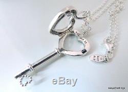 Nwt Authentic Pandora Floating Heart Locket Key Necklace #396581cz-80 Hinge Box