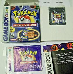 Pokemon Trading Card Game Gameboy Color Complete In Box AUTHENTIC NEW BATTERY