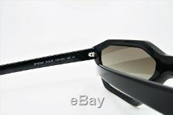 Prada Unisex Rectangular Black Sunglasses Authentic with Box SPR 03V 1AB-5O0 57mm