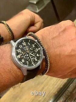 Seiko SSB367 Lord Chronograph Quartz Black Dial Men's Military Watch Authentic