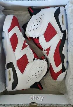 Size 8 Jordan 6 Retro OG Carmine 2021 NEVER WORN NEW IN BOX 100% AUTHENTIC