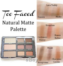 TOO FACED Natural Matte Neutral Eyeshadow Collection Palette AUTHENTIC NO BOX