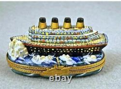 Titanic Boat Limoges Box Authentic Peint Main FRANCE FRENCH BRAND NEW