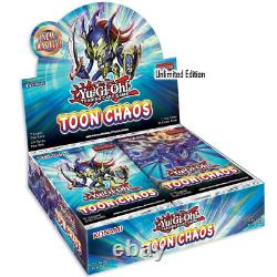 Yugioh TCG Unlimited Edition Toon Chaos Booster Box Authentic Factory Sealed