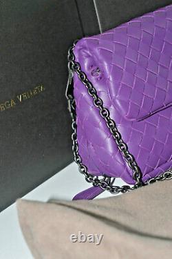 1 400 $ Authentic Bottega Veneta Intrecciato Shoo Disco Crossbody Sac En Cuir