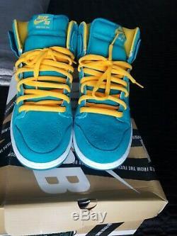 100% Authentique Nike Sb Dunk Sz 11 Teal Tropical Neuf Avec Boite