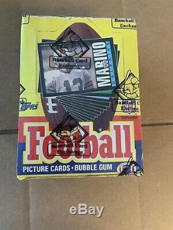 1985 Football Unopened Wax Topps Boîte Bbce Assermentée Lune Rc, Non X-out Monnaie
