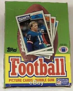 1987 Football Hobby Box Topps Gem 36 Paquet Fasc