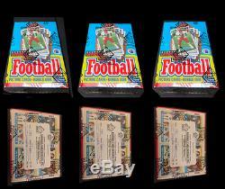 1989 Football Unopened Wax Topps Boîte Bbce Enveloppé De Cas Lot De 3