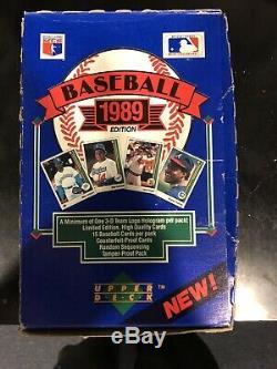 1989 Jeu De Cartes Low Supérieure Boîte Foil 36 Paquets De 15 Cartes Par Paquet Griffey Jr