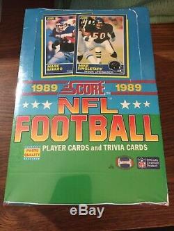 1989 Score Football Unopened Wax Box 36 Packs Bbce Fasc Authentifiées
