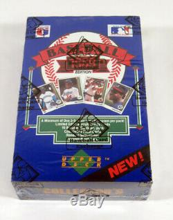 1989 Upper Deck Baseball Low # Box Bbce Enveloppé Fasc De A Boîtier Étanche
