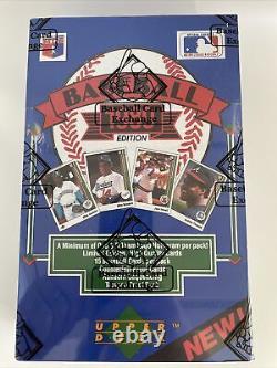 1989 Upper Deck Low Box 36 Packs Bbce Authentifié Et Enveloppé Griffey Psa 10's