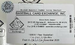 1990-91 Fleer Nba Basketball Jumbo Card Box Unopened Sealed Wax Packs Bbce Fasc