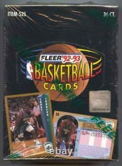 1992-93 Fleer Basketball Series 1 Factory Sealed Box 36ct Jordan Inserts