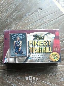 1996-1997 Basketball Série Finest 1 Topps Usine Sealed Box! Kobe Bryant Rc