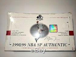 1998-1999 Sp Hobby Authentique Basketball Box Scellé En Usine Unopened Carter Dirk