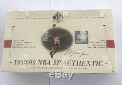 1998-1999 Upper Deck Sp Usine Authentique Scellé Basketball Hobby Box Nowitzki Rc
