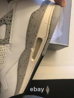 1999 Original Nike Air Jordan IV 4 Ciment Nouveau Dans La Taille De La Boîte 13 100% Authentique