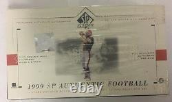 1999 Upper Deck Sp Authentic Football Hobby Box Factory Scellé Fasc