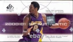2000-01 Upper Deck Sp Authentic Basketball Hobby Box