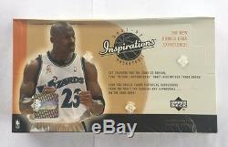 2001-02 Upper Deck Inspirations Basketball Hobby Box Scellé En Usine Paquet De 24