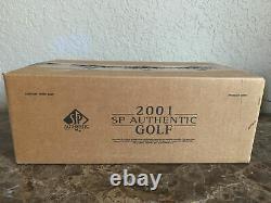2001 Sp Authentic Golf Scellé 12 Box Hobby Case Tiger Woods Au Rc Très Rare Pga