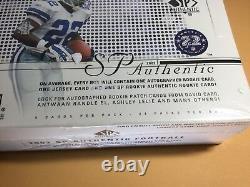 2002 Upper Deck Sp Authentic Football Hobby Box (tom Brady #1 Card Is Hot!)