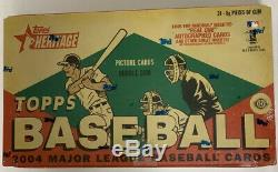 2004 Baseball Hobby Heritage Topps Box Scellé En Usine